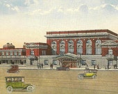 Union Station PITTSFIELD Massachusetts Unused Chase Hughes Vintage Postcard of the Train Depot