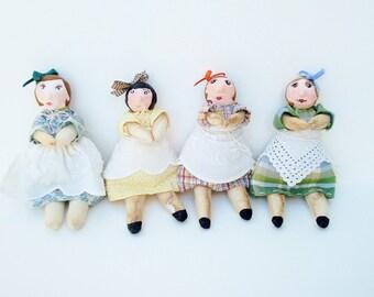 Pocket Mom, handmade art doll