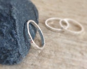 Fine Silver Ring, Rustic Ring, Stacking Ring, Hammered Ring, Skinny Ring Band, Pure Silver, Stackable Ring, Bohemian Rings, Bohemian Jewelry