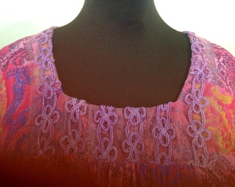 Multi color tunic top size x large