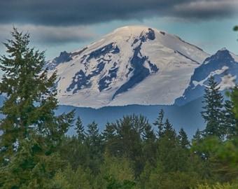 Mount Baker folded greeting card