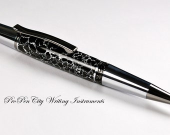 Black and White Web Tru-Stone Unique Pen