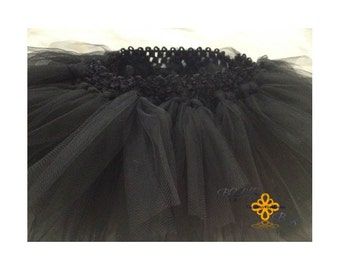 FREE SHIPPING 9-12 Months All Black Infant Tutu