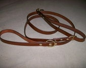 Leather Dog Leash with Built in Stub Leash