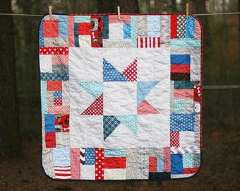 READY TO SHIP - Mega Star Baby Quilt