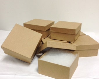 10 Pack - Lg. Kraft Boxes (3.75 x 3.75 x 2 in.)