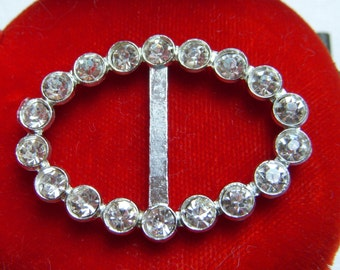 Pot Metal Oval Rhinestone Sash holder