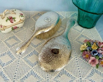 Antique Sterling Silver Mirror and Brush Set