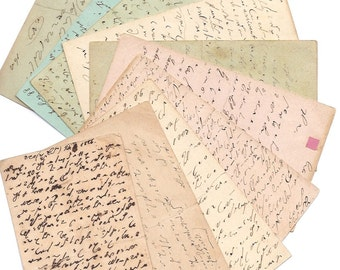 1800s Handwriten post cards from Italy - 2 Italian postcards - Paper ephemera from past - Antique supplies