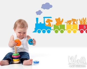 Wall decals - Kids colorful 132 train