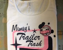 Trailer Trash Logo Women's singlet