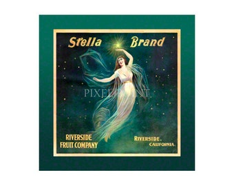 Small Journal - Stella Brand Fruit - Fruit Crate Art Print Cover