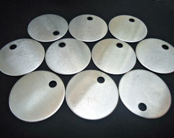 "10 Round Aluminum Stamping Blanks - 1.25"" Wide - MEDIUM"