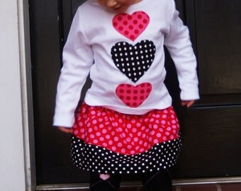 Valentine Heart Shirt for Toddler Youth Girls