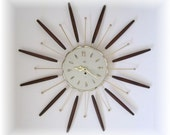 Atomic 1963 LUX 8 Day Clock Mid Century Modern Eames Era by Robershaw Controls Company