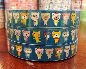 Deco tape - Party cat, bear DT463