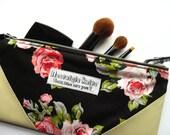 Make up bag - black floral
