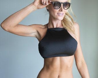 Bikini Swimwear Swimsuit Black Bikini Top for Women - Cobolt