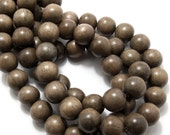 Graywood, Round, 14mm-15mm, Smooth, Large, Natural Wood Beads, Full strand, 28pcs - ID 1457