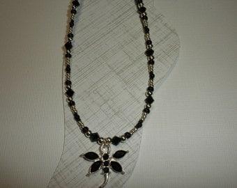 Black Dragonfly Ankle Bracelet