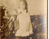 Cabinet Photo Girl with Doll - Baltimore , Maryland