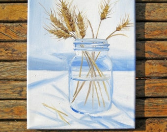 Rustic Art - Rustic Painting - Still Life Painting - Fall Painting - Fall Art - Original Painting - Oil Painting - Farm Decor - Country Art