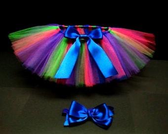 Multicolored tutu- Baby Tutu- Colorful Tutu- Infant Tutu- Tutu- Tutu Skirt- Newborn Tutu- Please only order if you are; bhltran
