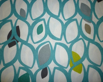 Teal Blue Green Napkins 4 Funky Retro Fabric Napkins washable ANY of MY DESIGNS