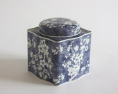Vintage Blue Floral Box, Tea Tin