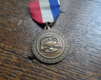 Lamp of Knowledge Medal with Ribbon