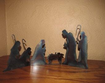 Nativity made of Metal