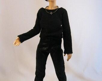 Slim MSD Boy Black Pleather Pants CLEARANCE Price