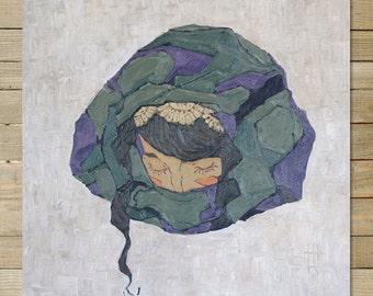 Violet |12 x 12 inch Art Print | abstract rock wall art decor
