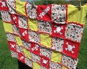 LIQUIDAITON SALE Pirate Themed Rag Quilt