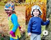 S125 Lane Raglan Tee & Tunic PDF Sewing Pattern, Boy, Girl, Child, Toddler, Baby T shirt, Tunic, Sweatshirt Sewing Pattern, Sizes 9m - 10y,