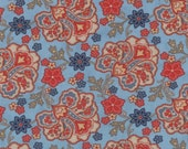 Grant Park - Jacobean in Light Blue by Minick & Simpson for Moda Fabrics - Last Yard