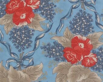Grant Park - Ribbon Blooms in Light Blue by Minick & Simpson for Moda Fabrics - Last Yard