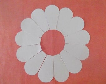 52  Paper Dresden Plate Templates for Patchwork  Three inch Plates