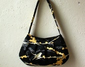 Black and Gray Aviary Sparrow Purse - Buttercup Bag