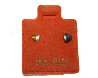 Vintage 14kt Gold Filled Heart Earrings