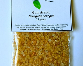 Gum Arabic - Senegalia senegal - Used for binding incense, ink, water color paints, and protection