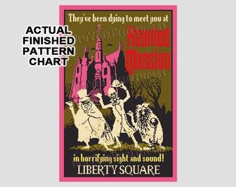 Vintage Haunted Mansion WDW Cross Stitch, Disney Poster, Haunted Mansion, WDW Poster, Disney, Cross Stitch, Needlepoint NewYorkNeedleworks