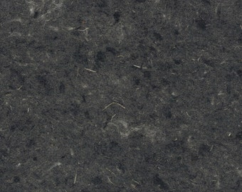 Black Hemp Handmade Paper 11x14 - Dark Fine Art Paper