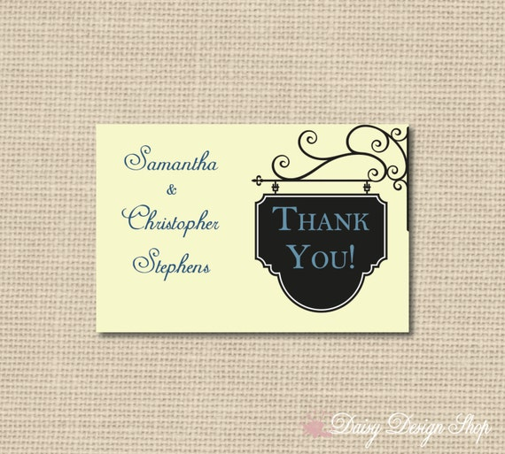 thank you cards elegant hanging signdaisydesignshop on