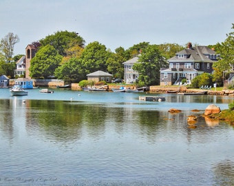 EEL Pond WOODS HOLE Fine Art Photography, Falmouth Cape Cod Art, Travel Massachusetts Print, New England, Nature, Landscape, Atlantic,