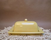 Sunshine Yellow butter dish