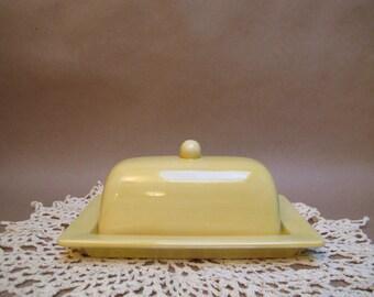 Sunshine Yellow butter dish