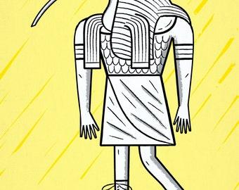 EGYPTiAN GODZ ~ THOTH ~ limited edition print