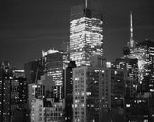 Night in New York City II - 8x10 Fine Art Photograph, NYC, buildings, skyscrapers, urban