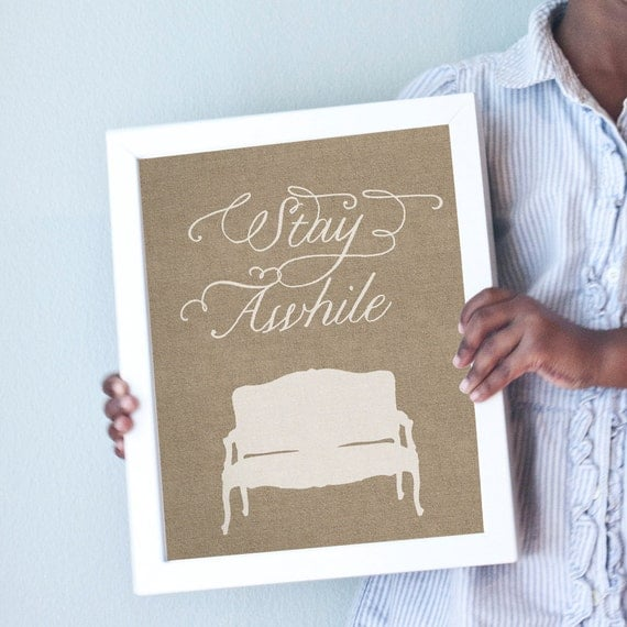 Printable 8x10 Stay Awhile
